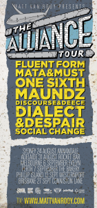 alliance tour flyer